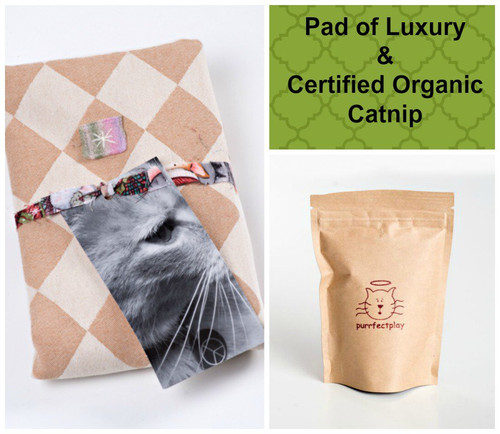 Charming springeaster gifts for your cat organic natural cat toys spring easter gift bag for cats includes pad of luxury and catnip 100 negle Image collections