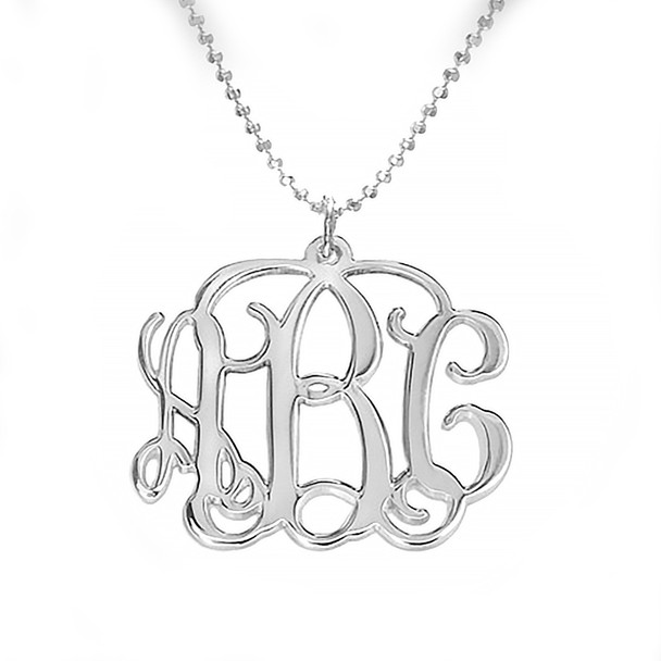 Silver Monogram Necklace - 0.925 - ANS004