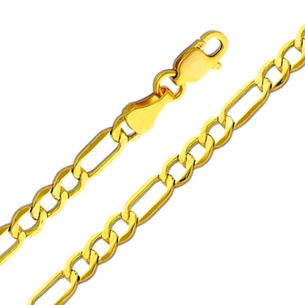 Yellow Gold Chain - 14 K. Figaro - 3.5 mm - CH157