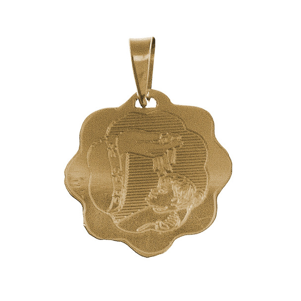 Yellow Gold Baptism Medal - 14 K - BPT014