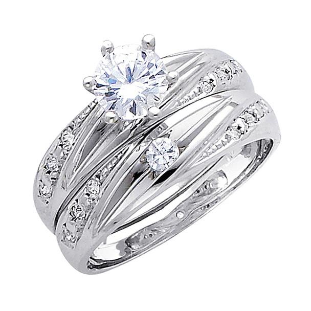 Engagement Ring / Wedding Band 14K  5.2 gr. - RG168