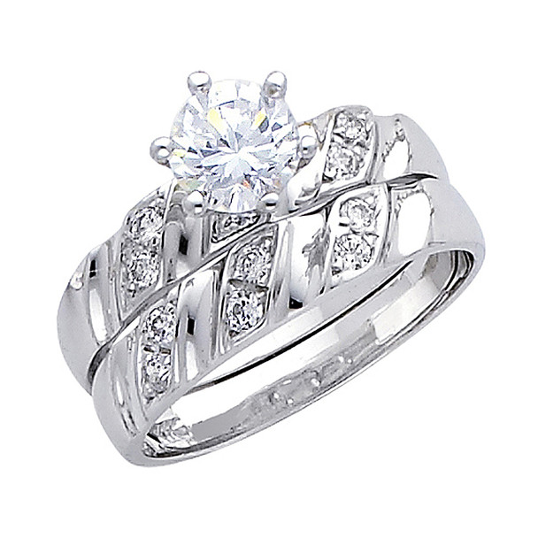 Engagement Ring / Wedding Band  14K  4.5 gr. - RG166