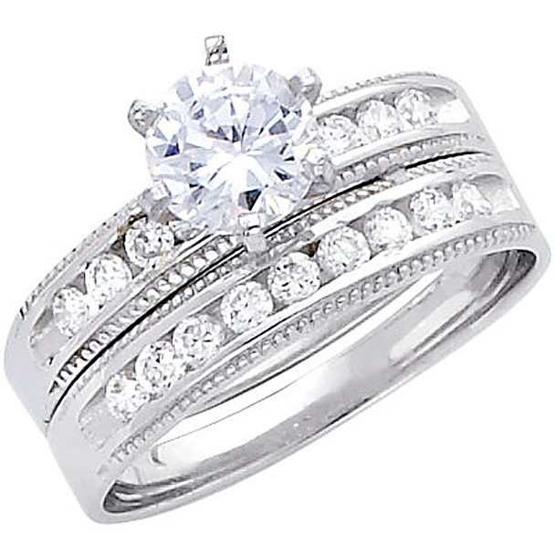 Engagement Ring / Wedding Band 14K  4.9 gr. - RG234