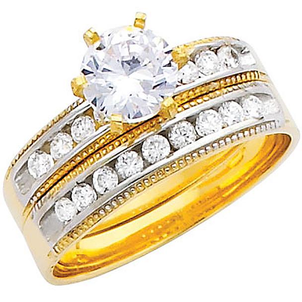 Engagement Ring / Wedding Band 14K  5.1 gr. - RG228