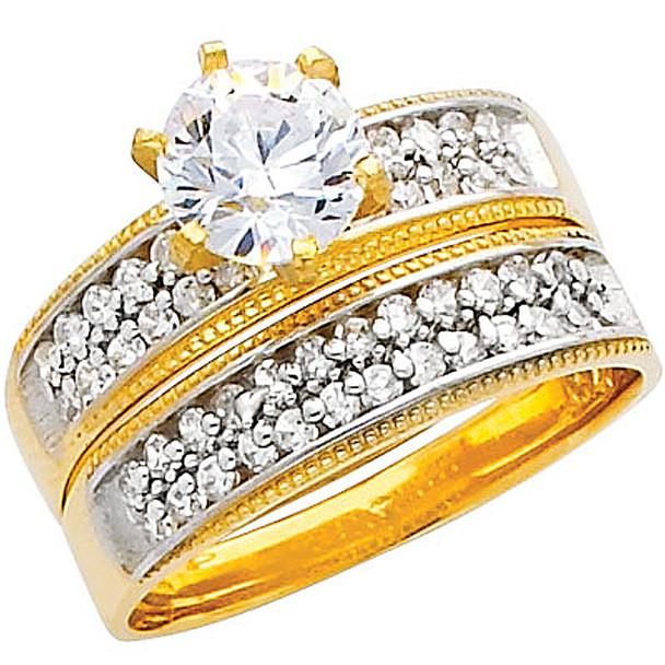 Engagement Ring / Wedding Band 14K  5.4 gr. - RG224