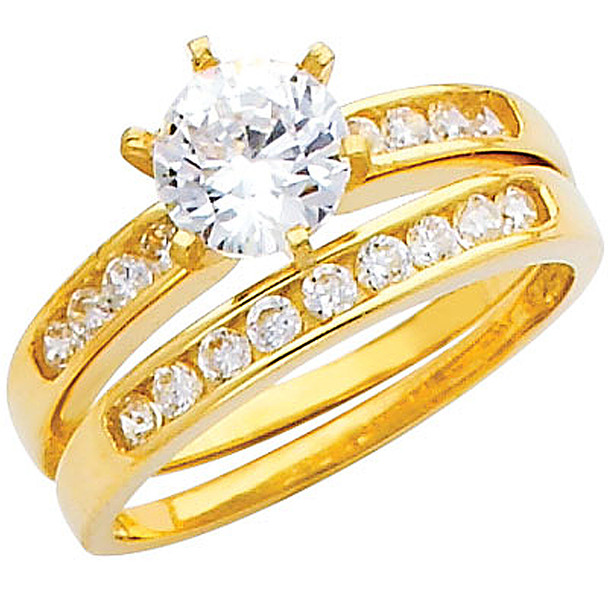 Engagement Ring / Wedding Band 14K  4.0 gr. - RG220
