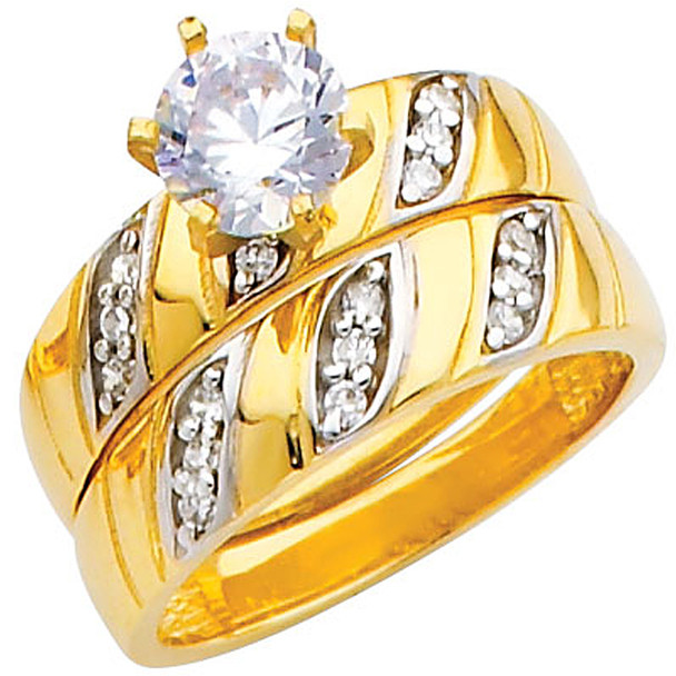 Engagement Ring / Wedding Band 14K  5.7 gr. - RG208