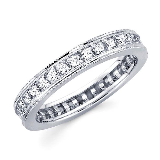White gold wedding band with diamonds - BD5-12