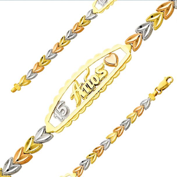 Forever 15 - Yellow / White / Red Gold Bracelet - 7.6 gr - AB152