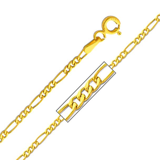Yellow Gold Chain - 14 K. Figaro -1.9 mm - CH159