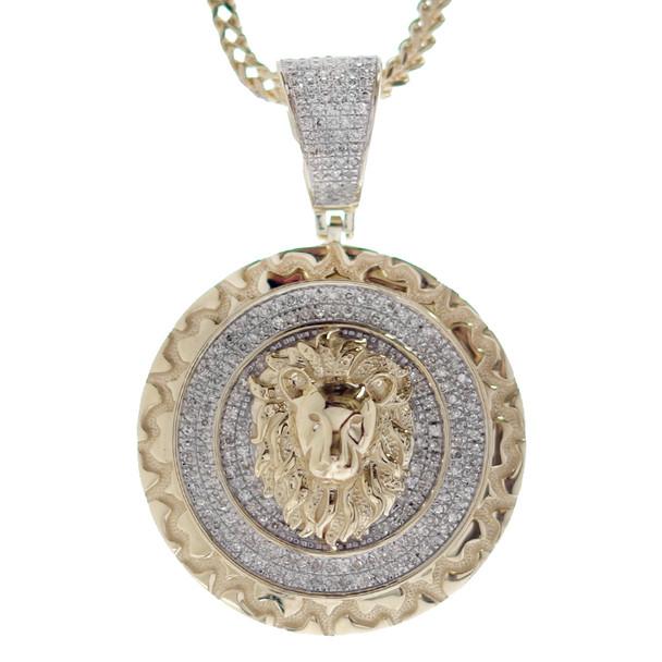 10K Gold & Diamond Pendant - Lion - APD-311