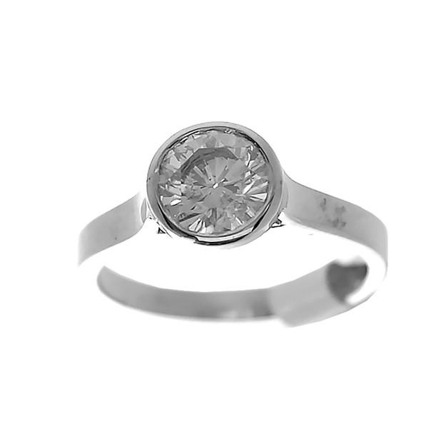 White Gold Engagement Ring - 14K - ERB-508