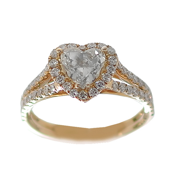Yellow Gold Engagement Ring - 14K - ERB-613