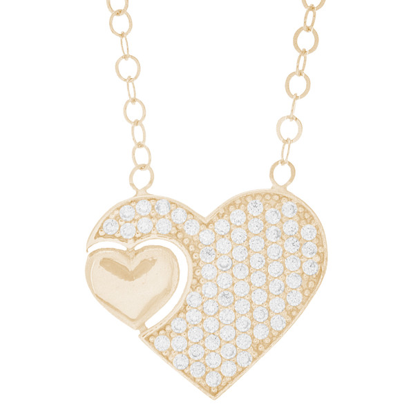 Necklace and Pendant Set  - CZ - 14 K - JST334  Necklace and infinite love Pendant Set  14 K. | 2.97 gr.  For more info call us at: 773-342-1226