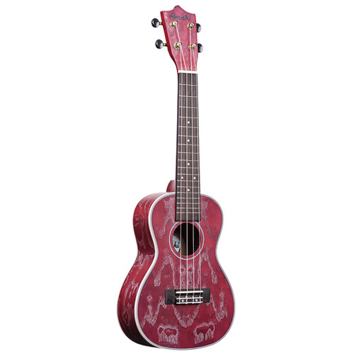 Amahi Red Quilted Ash C-22 (Concert)