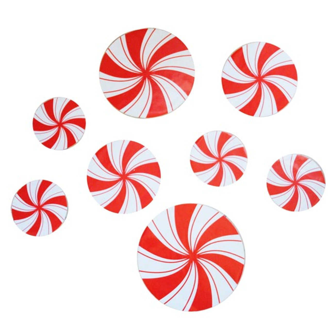 Peppermint Candy Floor Decals Fun Christmas Decoration