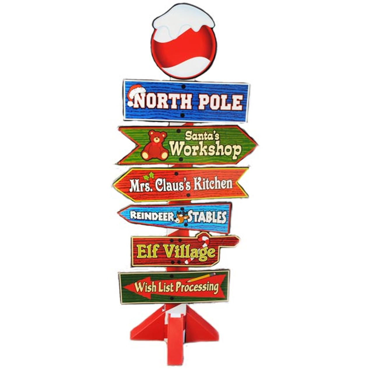 sold out north pole christmas decoration cardboard sign