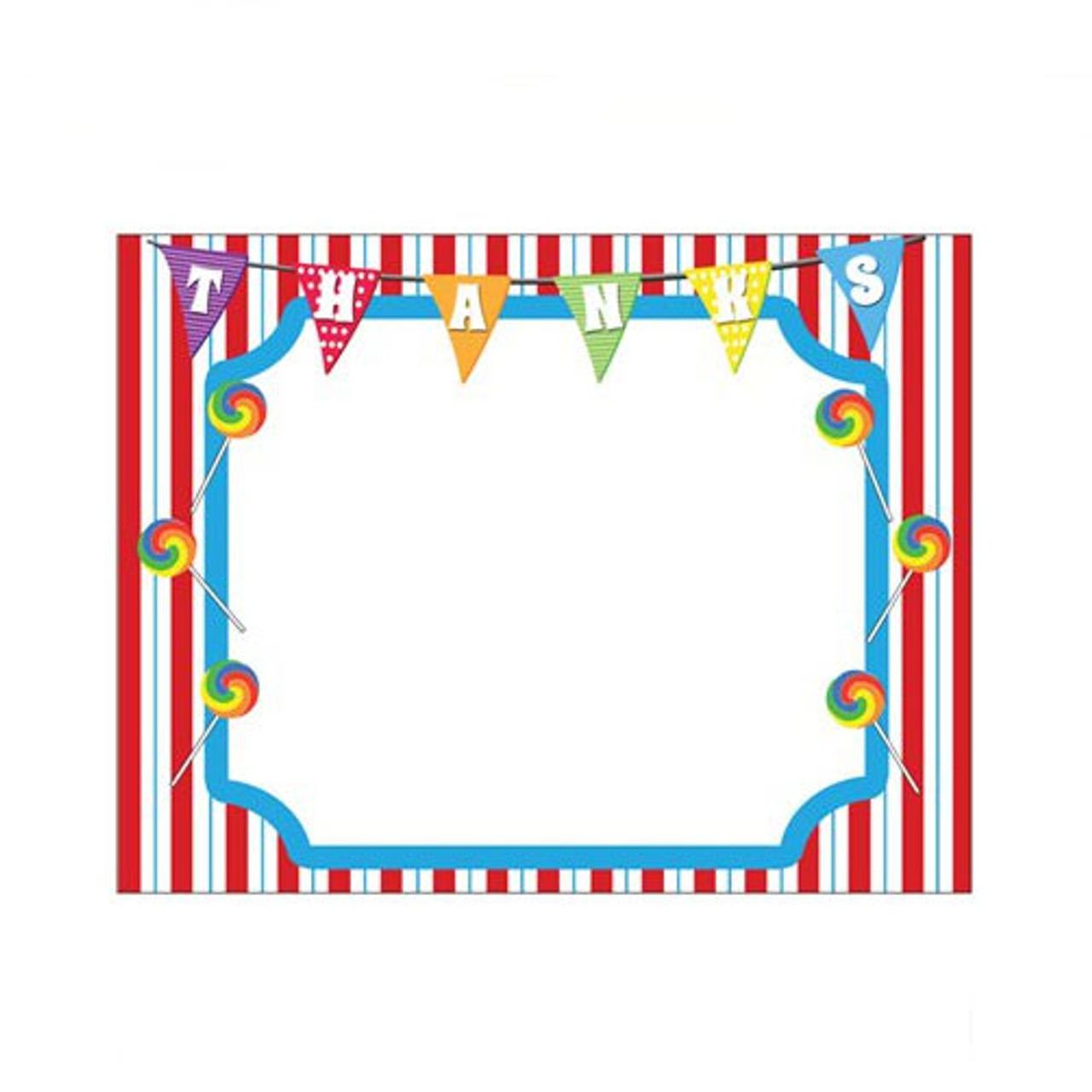 Carnival themed party thank you note the finishing touch sold out carnival party themed thank you notes thecheapjerseys Image collections