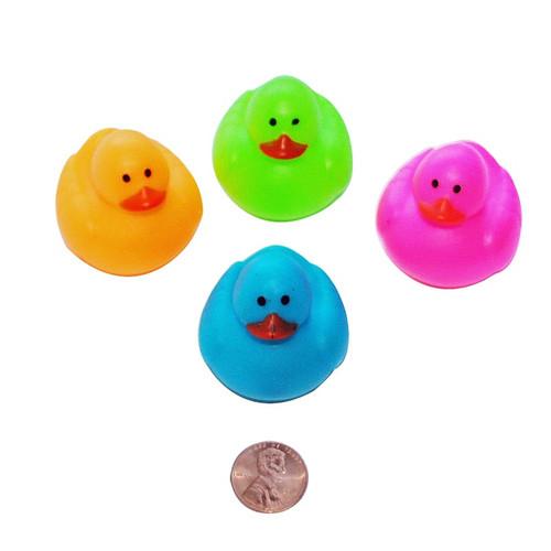 Mini Neon Rubber Ducks - Cute Floating Duckies