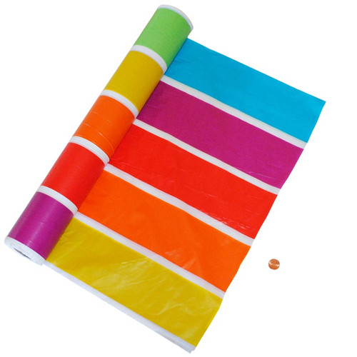 Carnival Themed Plastic Table Cloth Roll 100 Feet Long