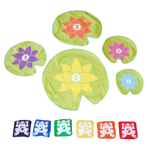 Bean bag leap frog game to buy bean bag leap frog game 5 lily pads and 6 frogs solutioingenieria Choice Image