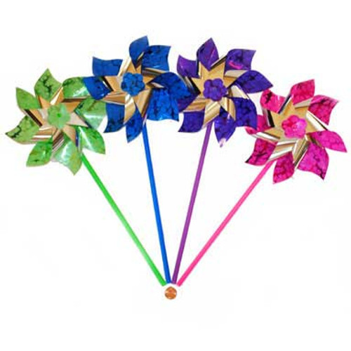Bright Foil Pinwheels (24 total pinwheels in 2 boxes) 52¢ each