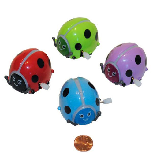 Wind Up Flipping Lady Bug Small Toys