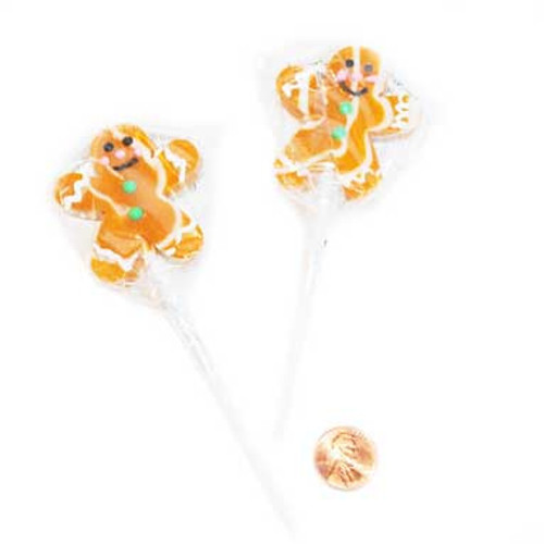 Gingerbread Lollipops