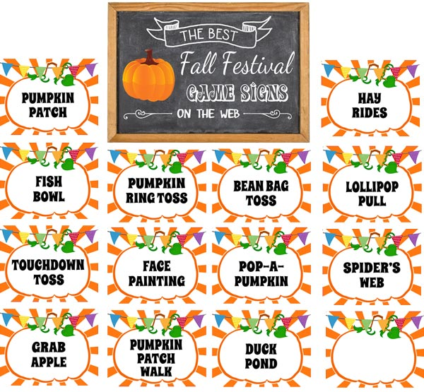 fall festival signs free printable signs download