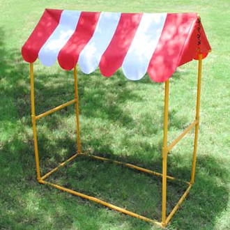Red And White Striped Carnival Decoration Tabletop Decor