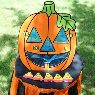 Pumpkin Bean Bag Toss Set Fall Carnival Game