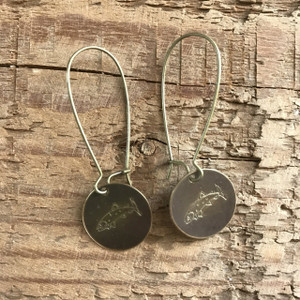 "RRH Cowgirl Relics ""Trout"" Hand Stamped Earrings"