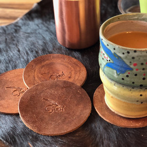 *NEW* Leather Stamped Coasters