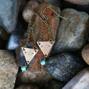 *NEW* Triangle Trout Earrings