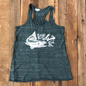 *NEW!!* Keep Em Wild Tank-Marbeled Green