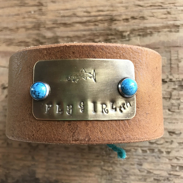 "RRH Cowgirl Relics ""Fly Girl"" Handmade Leather Cuff"