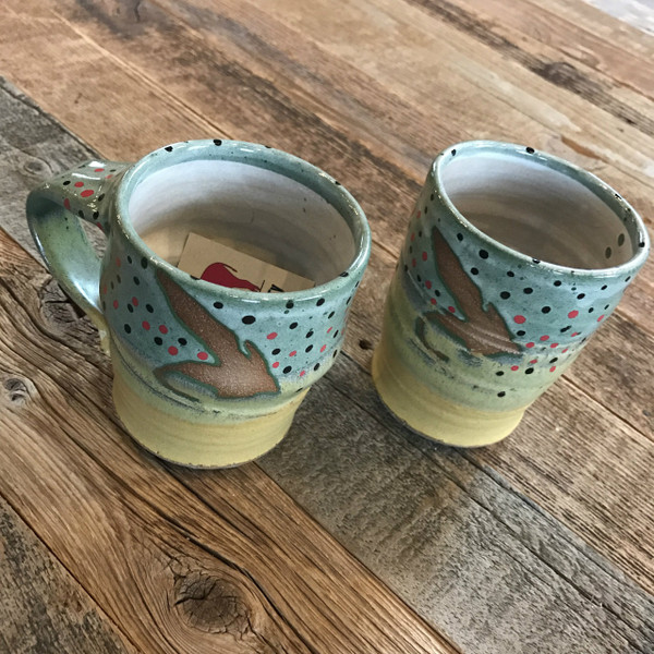 "Handmade ""Fly"" Trout Mugs"