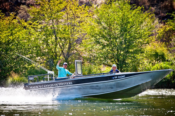 Jet boat guided Steelhead trip- photo courtesy of Direct Adventures