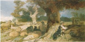 """Sleeping Shephard"" by Richard Ansdell"