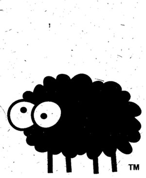 Black Sheep Card by Sheep Poo