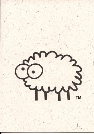 Ewe Note Card by Sheep Poo