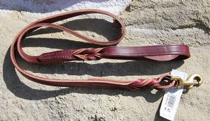 Twisted Leather Lead - BU