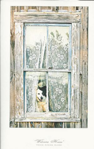 """Welcome Home"" Note Card by Vickie Atkins Close"
