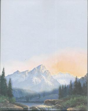 Mountain Scene Notepad