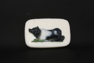 3-D Border Collie Soap