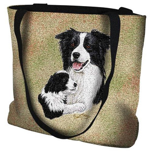 Mother & Pup Tapestry Tote Bag