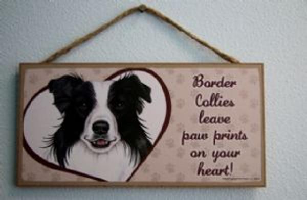 Border Collies Leave Paw Prints Plaque