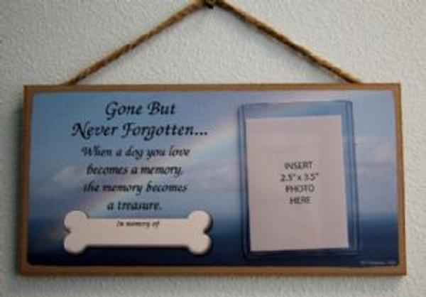 Gone But Never Forgotten Memory Plaque