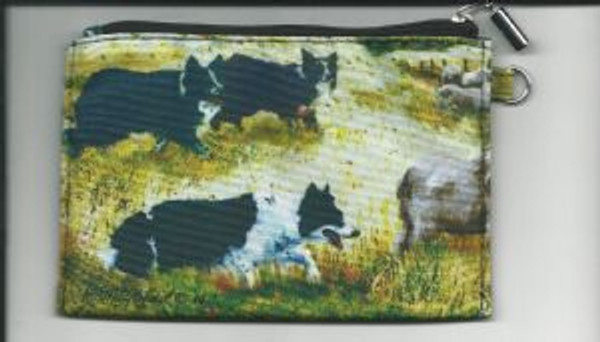 Border Collie Zippered Pouch