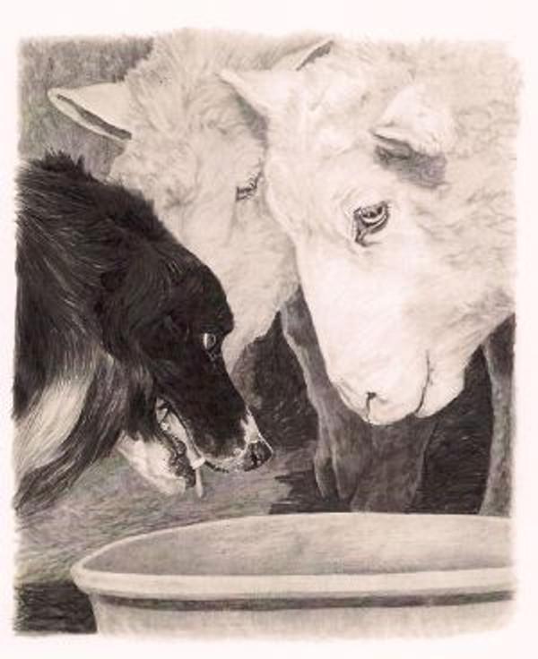 Me First Print by Cheryl Harley-Volzt